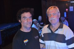 Peter Haines and Steve Jebb in front of the Sunday banquet