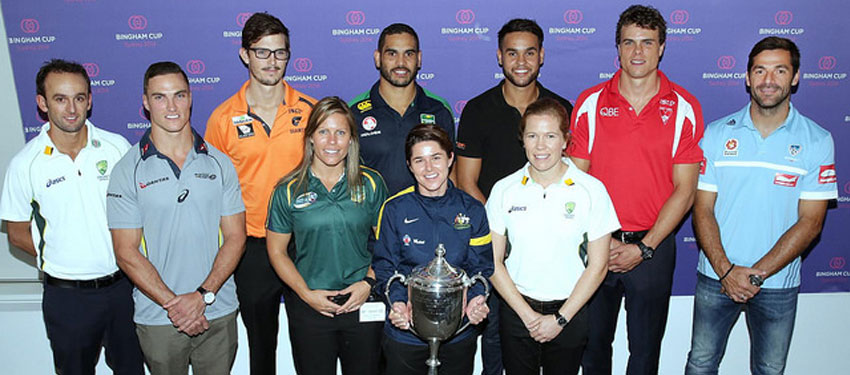 Representatives from all the major sporting codes in Australia at the press conference yesterday. (Picture: Ann-Marie Calilhanna; Star Observer)