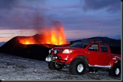 Toyota's HiLux drives to the heart of Iceland's volcano 2 GAYCARBOYS
