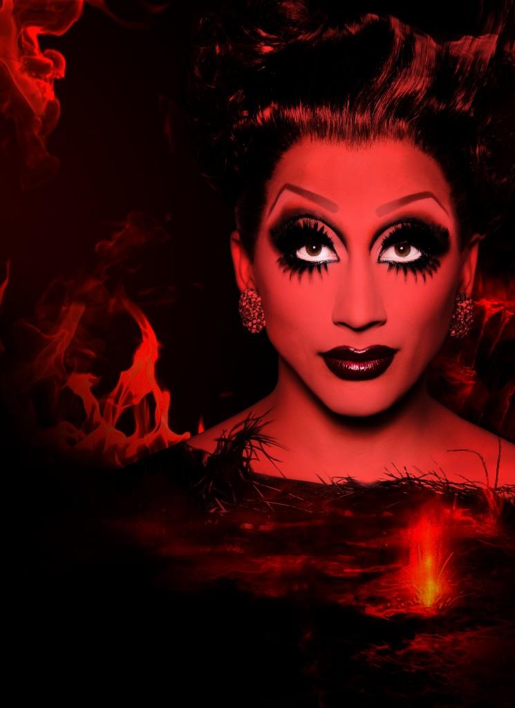 "Promo image for Bianca Del Rio's ""Not Today Satan"" tour."