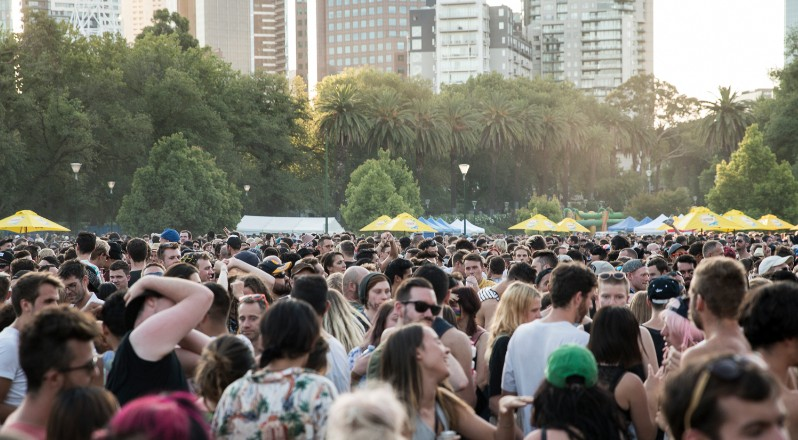 Organisers estimate that more than 100,000 people attended Midsumma Carnival throughout the day yesterday. (PHOTO: Burke Photography; Star Observer)