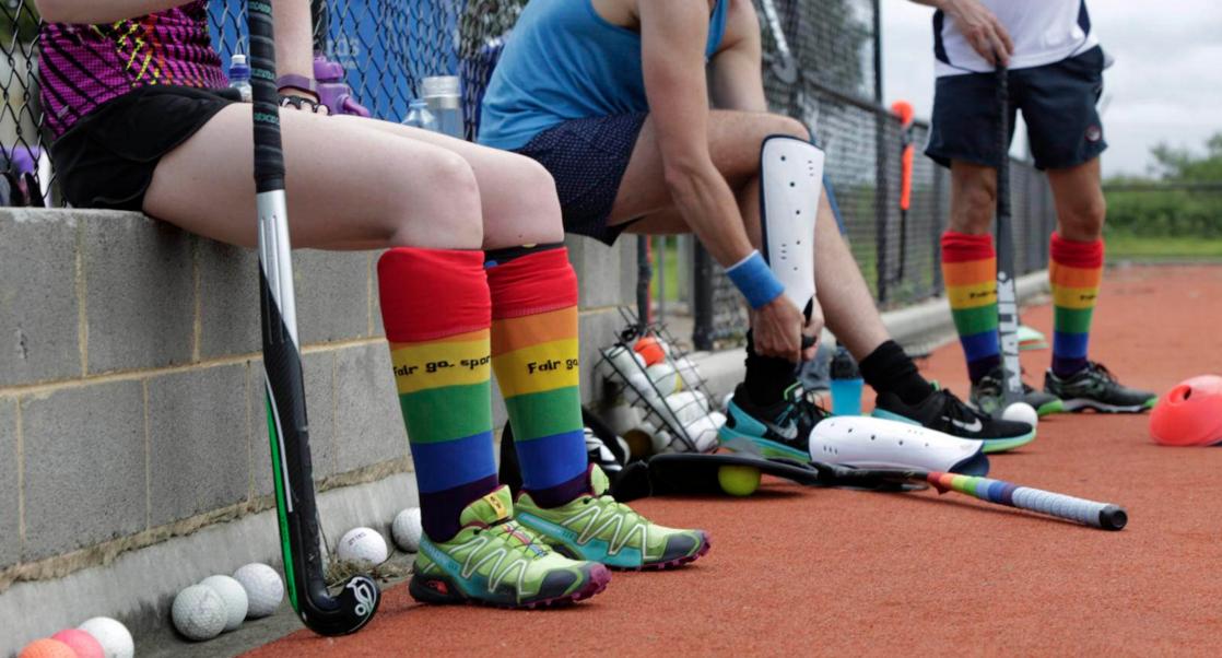 hockey sport rainbow gay
