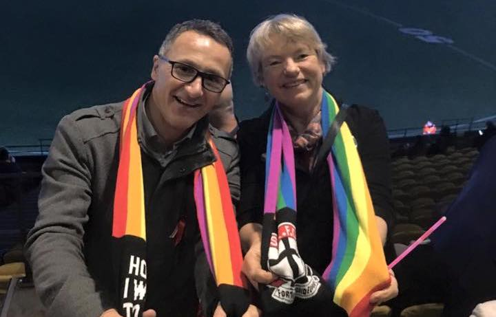 Australian Greens Senators Richard Di Natale (L) and Janet Rice. Photo: Facebook