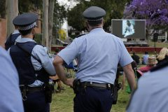 The presence of police at a Sydney event was controversial. Picture: Ann-Marie Calilhanna