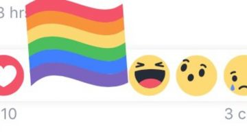 rainbow pride react facebook