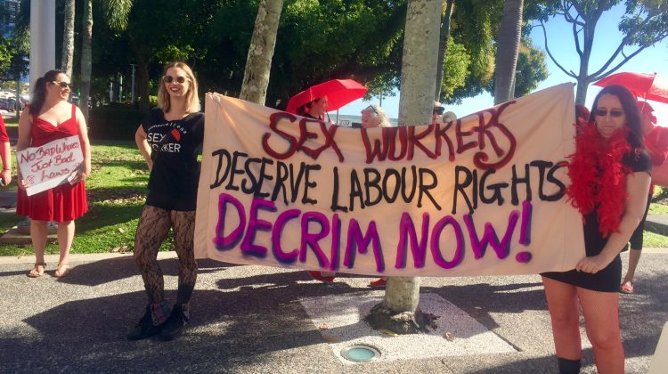 decriminalisation international whores day sex workers rally cairns