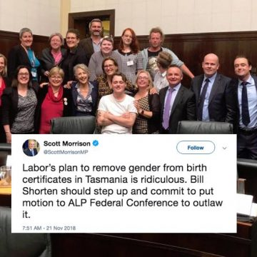 tasmania trans law reform scott morrison