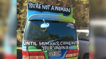 wicked campers banned transphobia